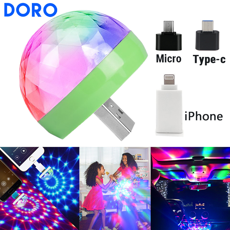 USB DC 5V Red Green Blue Colorful Stage Light Dj Disco Music Control Holiday Light Family Party Light Decorative Christmas Light