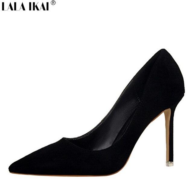 Элегантные женские туфли-лодочки Высокие каблуки острый носок пикантная женская обувь Мягкая женская обувь для леди на высоком каблуке офисные туфли XWC0474-5