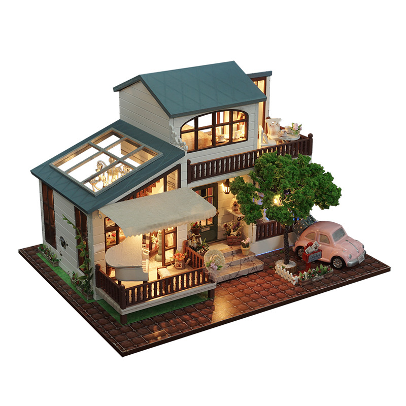 A-039-B London Holiday Christmas Gift DIY Dollhouse With Cover Light Car Music House Model Intelligence Children Gift Collection cd billie holiday the centennial collection
