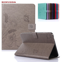 For Samsung Galaxy Tab 4 10 1 SM T530 T531Case Elegant Butterfly Flower Embossed Design PU
