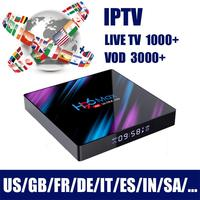 H96 Free Iptv No Yearly Fee Arabic Iptv Box with Subscription Italia Europe French German 900+ Channels Box Ip Tv Android 9.0