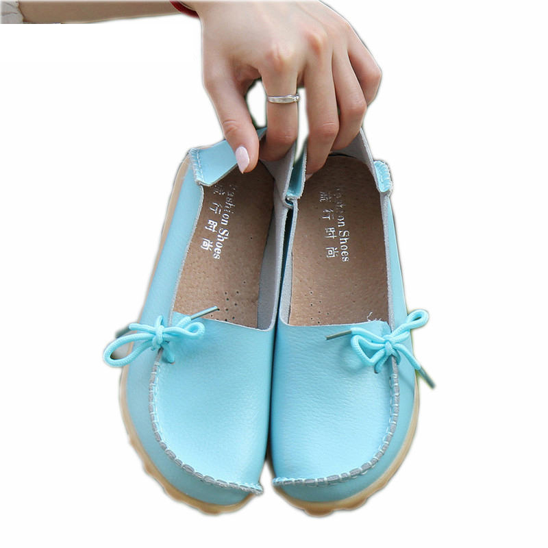Soft Leisure Flats Women Leather Shoes Moccasins Mother Loafers Casual Female Driving Ballet Footwear 1