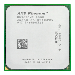 AMD Phenom X4 9650 CPU 2,3 GHz 95W Quad Core Socket AM2 +