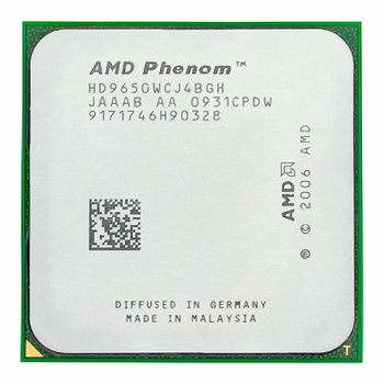 AMD Phenom X4 9650 CPU 2.3GHz 95W Quad Core Presa AM2 +