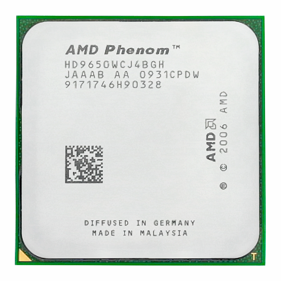 AMD Phenom X4 9650 CPU 2.3GHz 95W Quad Core Socket AM2 +