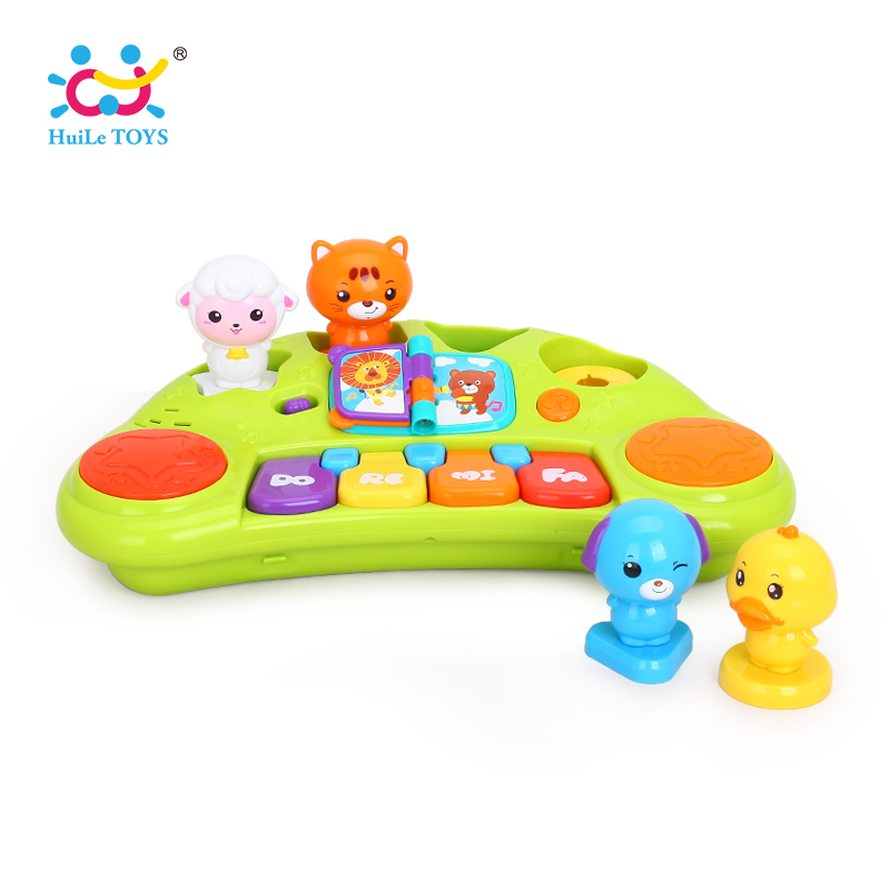 HUILE TOYS 2103A Baby Toys Learning Educational Musical Piano Animal Farm Musical Instrument Developmental Toys for Children цена