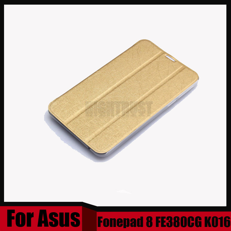 3 in 1 For ASUS Fonepad 8 FE380CG FE380 FE8030CXG K016 8 tablet Pu leather cover case + stylus + Screen Film