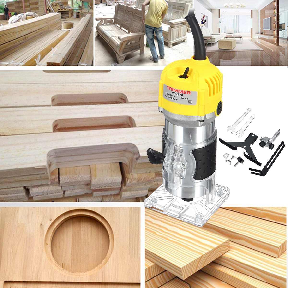 110V 220V 2200W Elektrische Hand Trimmer 6,35mm 1/4 Holz Router Bits Trimmen Schneiden Carving Maschine Holzbearbeitung laminator Werkzeug