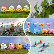 1 Pcs Random Color Landscape Cute Animal Miniatures Resin DIY Crafts Fairy Garden Home Decoration Dog