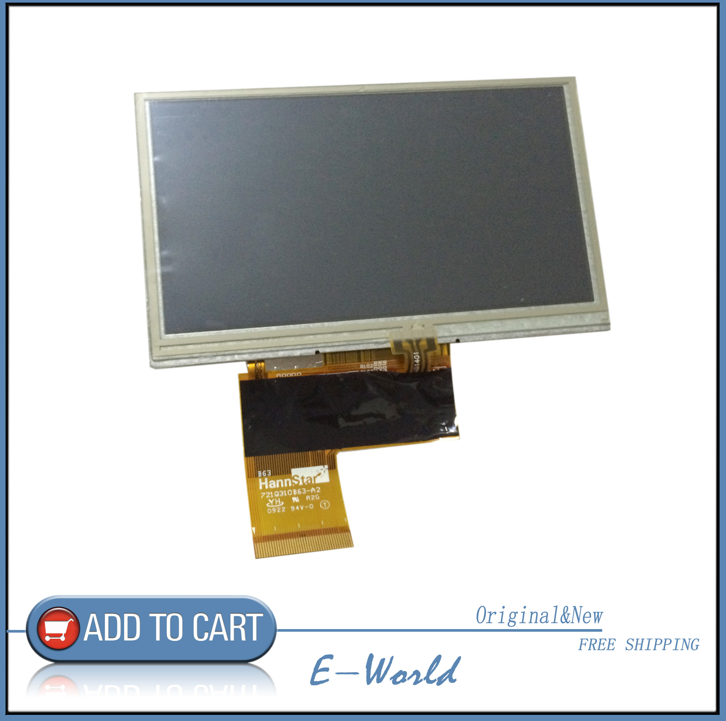 5 LCD screen display with touch screen for  KORG PA300 free shipping5 LCD screen display with touch screen for  KORG PA300 free shipping