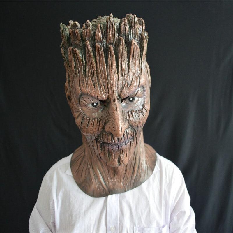 Magical Dryad Tree Latex Demon Mask Halloween