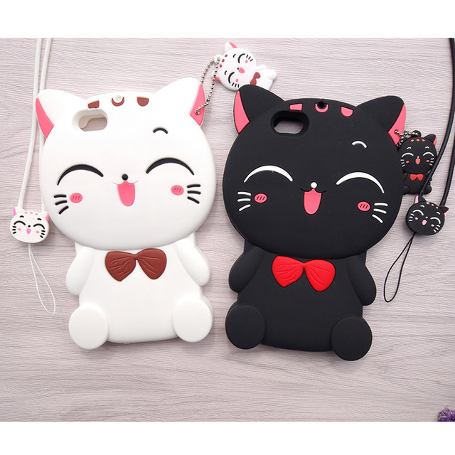 online store f5897 acb95 US $4.99 25% OFF|Cute Cartoon 3D Kitty Cat Shin chan Phone Case for OPPO F3  Soft Silicone Rubber Shockproof Cover Fundas Coque for OPPO A77 F3-in ...