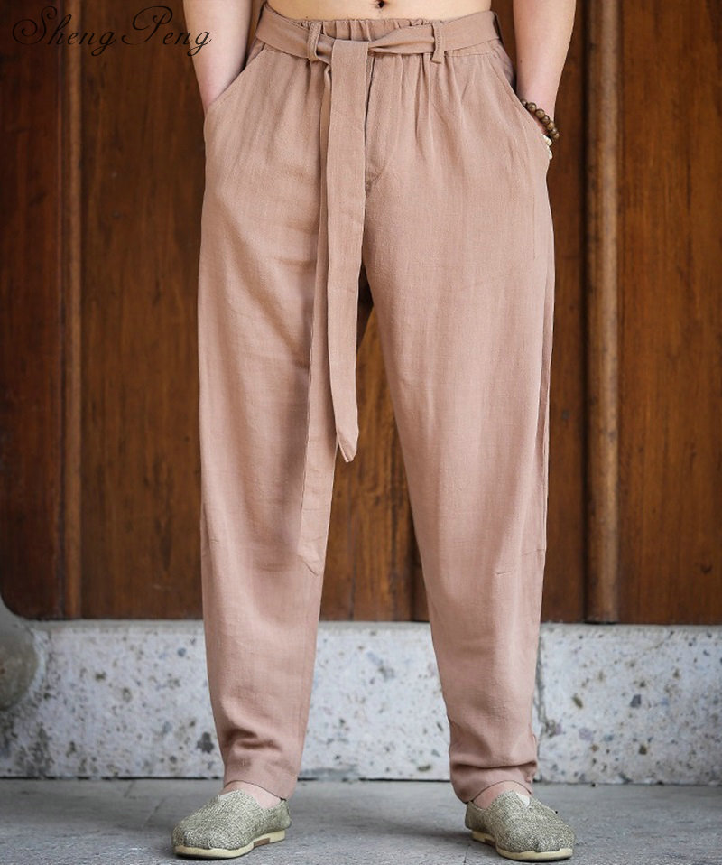 Traditional chinese men clothing kung fu pants oriental pants man mens ethnic clothing oriental men clothes CC210