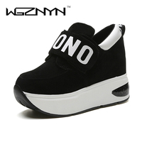 WGZNYN 2017 Autumn Platform Shoes Woman Creepers Loafers Slip On Casual Women Shoes Round Toe Flats