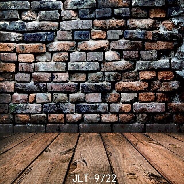 stone wall vinyl photography backdrop vintage wood floor background