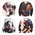 Women Harley Quinn Deadpool Sweatshirt Anime Men fashion harajuku Long Sleeve Outerwear 3d Camiseta Suicide Squad Brand Clothing