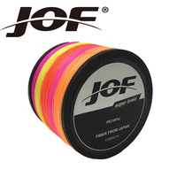 JOF 1000M Brand Superpower 8Strands Strong Japan Multifilament 100%PE Braided Fishing Line 13 200 LB Precision