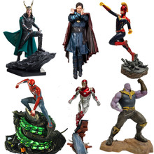 Avengers Captain Marvel Thanos ironman spiderman Loki Doctor Strange Statue PVC Action