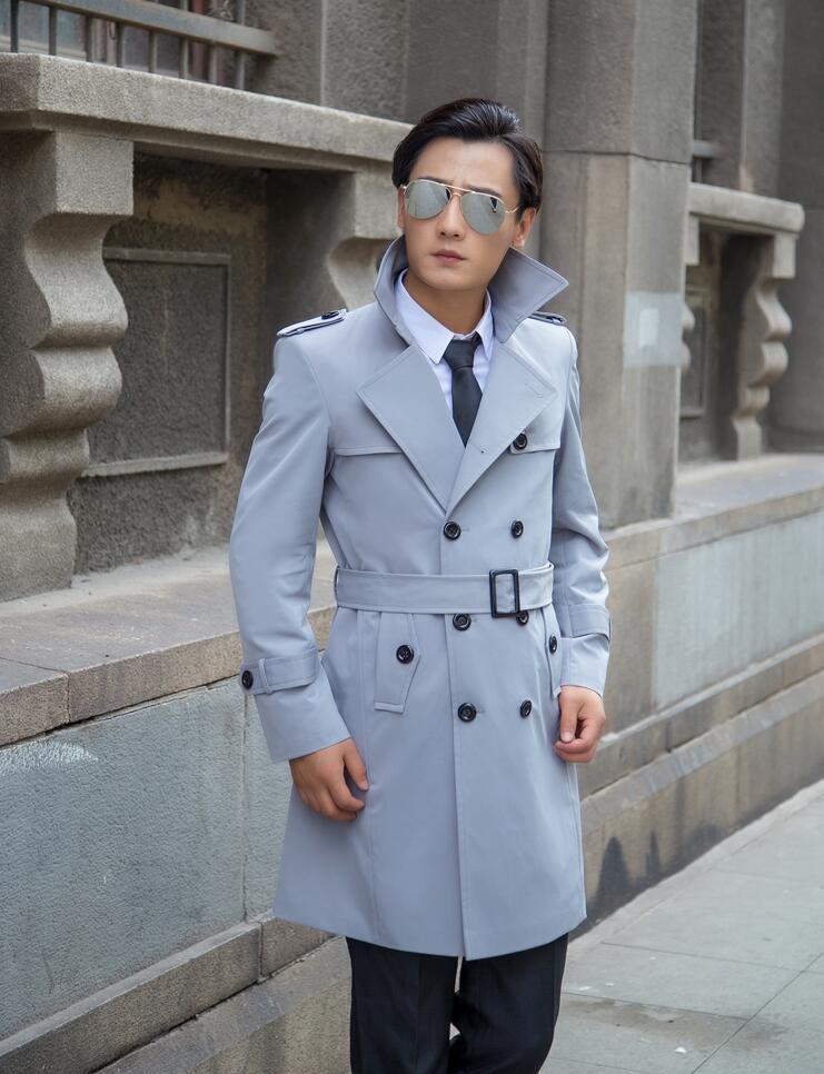 Free shipping 2017 new designer slim sexy turn-down collar trench coat men long overcoat mens clothingouterwear casaco masculino