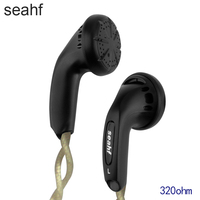 Seahf AWK F320S 320ohm Monk Earphone 320 Ohms Flat Head Plug Earplugs High Impedance In Ear