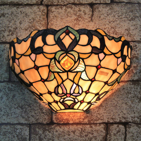 New 12 Tiffany Style Stained Gl Wall Lights Outdoor Lighting Lamp Handmade Re Lampshade