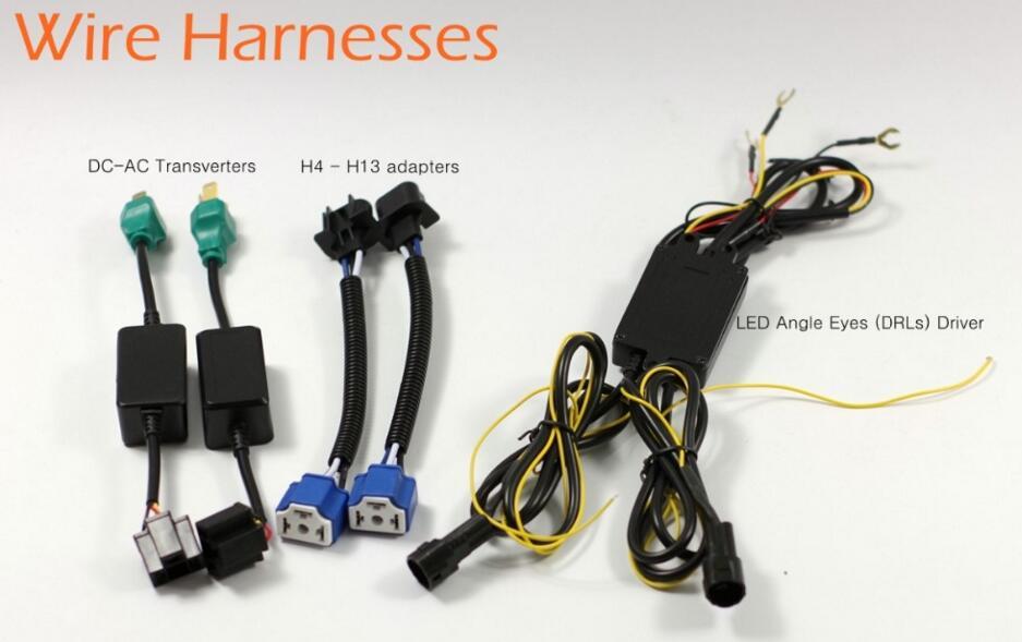 Pair 7 Inch Putaran LED Lampu lampu Halo Angle Mata + Sinyal Untuk - Lampu mobil - Foto 6