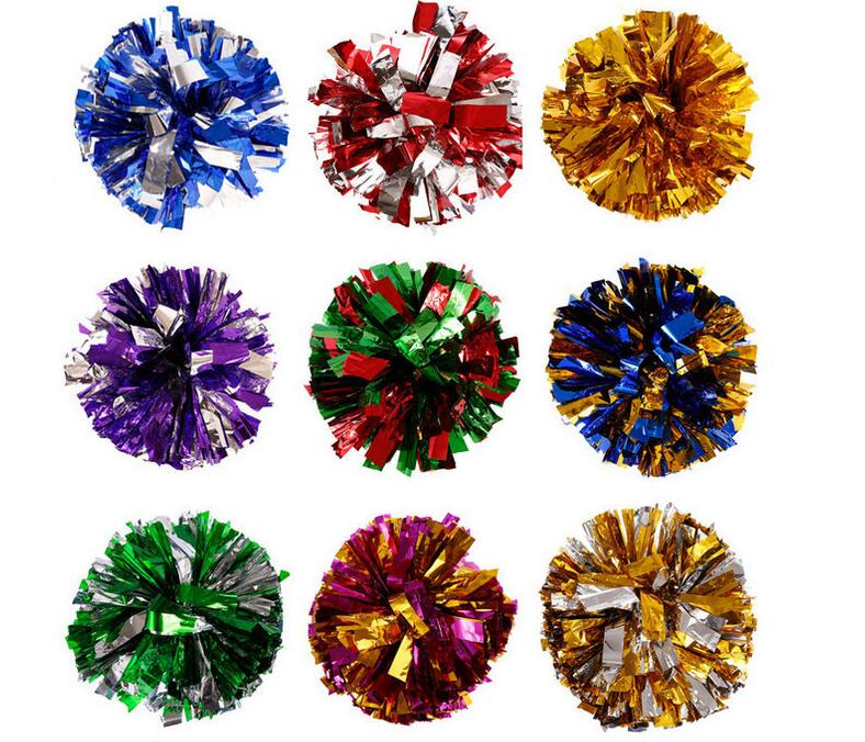 Hot 2pcs/lot  sport Cheerleading PomPoms Cheerleader Supplies Fake Flowers for Game Dance Party Use Pompoms Competition  Flower
