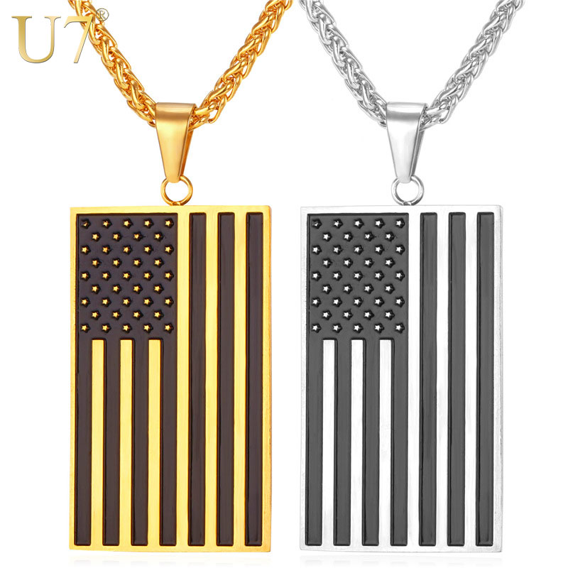 american flag metal tag dog opener product grunge bottle necklace sunshine