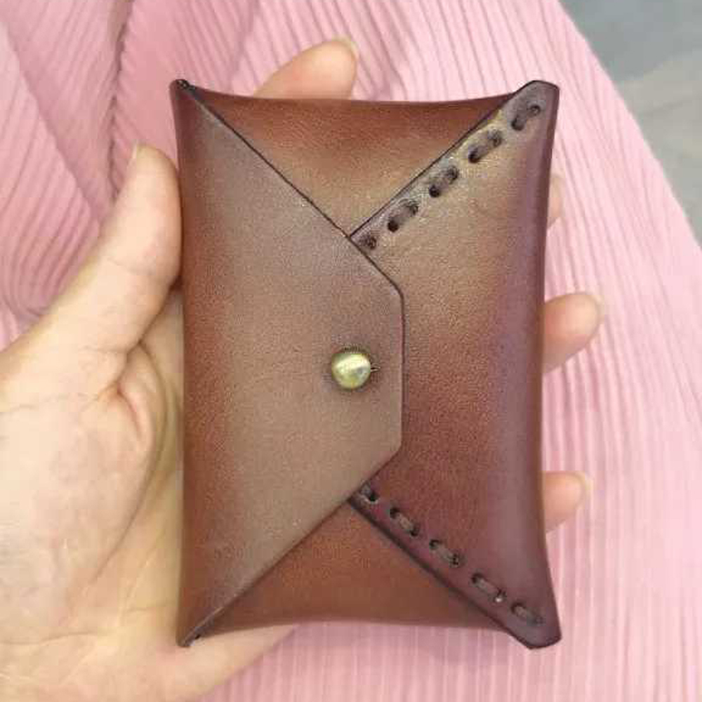 DIY leather craft card holder small wallet die cutting ...