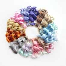 New Diy Bjd Wig Accessories 1piece 15*100CM Doll Hair For 1/3 1/4 1/6 1/12 Natural Color Synthetic Fiber Curly Doll Hair Bjd Wig doll accessories 1 3 1 4 bjd wig doll hair long curly wavy wig multicolour available high temperature wire wig wool fa15