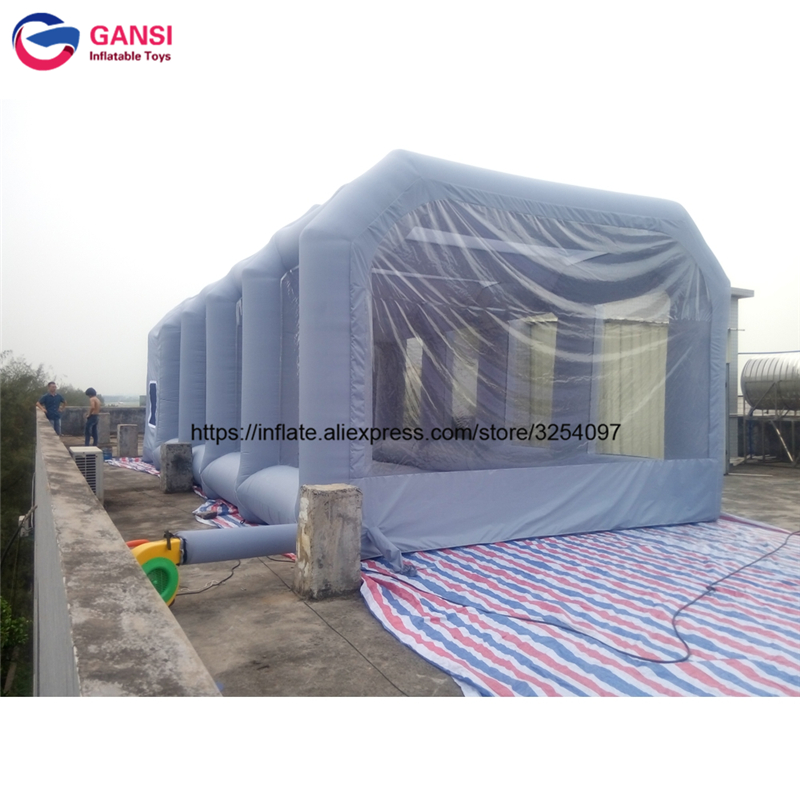 8m*4m*3m gray inflatable car tent outdoor spray paint tent for car wash commercial inflatable paint booth spray booth for sale ao058m 2m hot selling inflatable advertising helium balloon ball pvc helium balioon inflatable sphere sky balloon for sale
