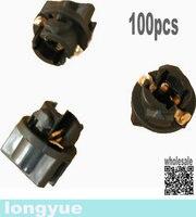 100pcs 3 8 T5 Twist Lock Wedge Base Socket Instrument Panel Cluster Plug Lamp Dash Light