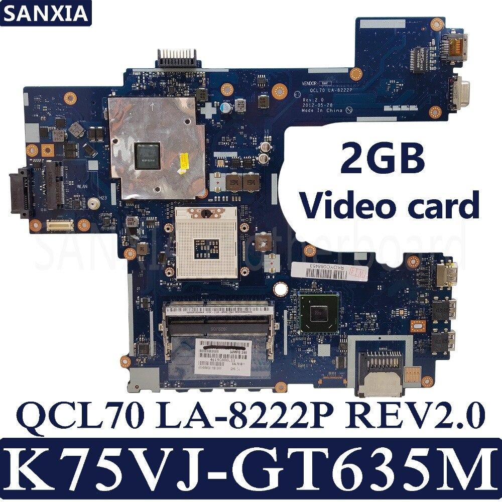 Интернет магазин товары для всей семьи HTB15I0iaU_rK1Rjy0Fcq6zEvVXao Kefu QCL70 LA-8222P REV2.0 материнская плата для ноутбука ASUS K75VJ K75VM R700VJ K75V K75 Тесты Оригинал материнская плата GT630M/GT635M-2GB