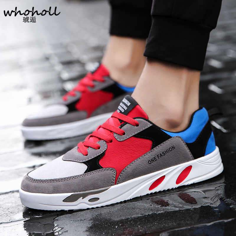 WHOHOLL Men Casual Shoes Breathable Male Shoes Tenis Masculino Shoes Zapatos Hombre Sapatos Outdoor Shoes Sneakers Men 2016 new unisex casual shoes footwear men women breathable outdoor sport skate shoes tenis feminino trainers zapatos hombre