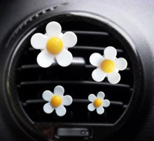 4 Pieces Set Car Air Vent Ornaments Decoration Aromatherapy Flowers Conditioning Perfume Balm Container