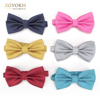 20 style Bowtie formal Men necktie boy Men's Fashion business wedding bow tie Solid Dot Male Dress accessories Shirt gift 1