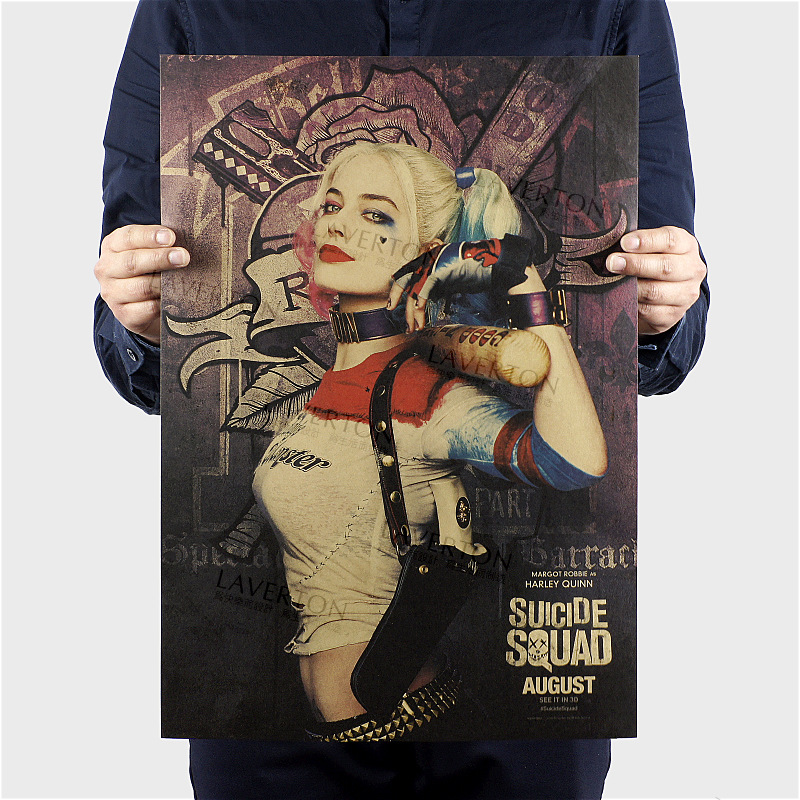 Suicide Squad B/ Hollywood actor film Movie/kraft paper/Cafe/bar poster/Retro Poster/decorative painting 51x35.5cm Free shipping