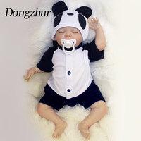 Dongzhur 18 дюймов силикона Reborn Baby Doll игрушки имитировать для девочек и мальчиков для маленьких кукол ручной работы очаровательны реалистичные