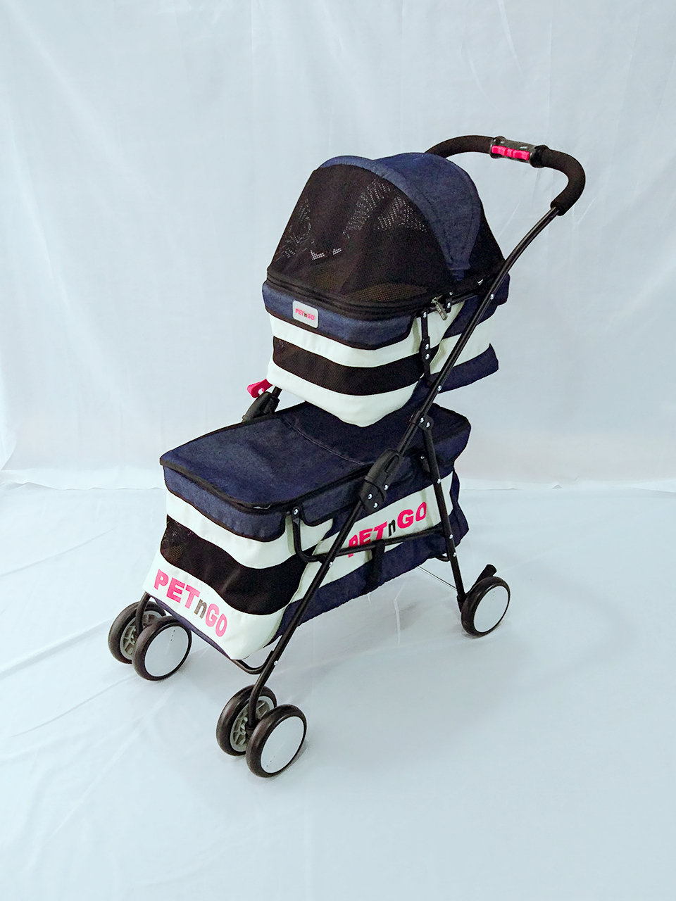 Fashion Portable Double layer Cat Stroller Foldable