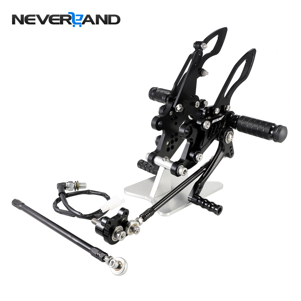 Motorcycle CNC Adjustable Rearsets Foot Rest Foot Pegs For Honda CBR1000RR 2004-2007 CBR600RR 2003-2006 CBR 600RR 1000RR motorcycle adjustable rider rear sets rearset fold foot rest pegs for honda cbr1000rr cbr 1000 rr 2004 2005 2006 2007