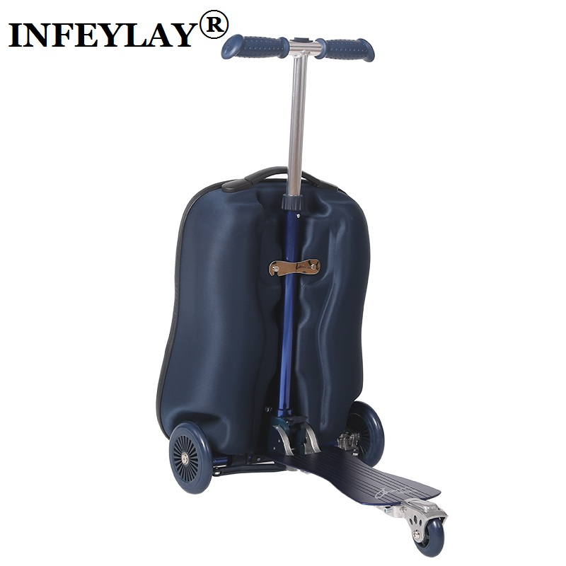COOL 20 inches camouflage boy scooter suitcase men trolley case extrusion students backpack business Travel luggage