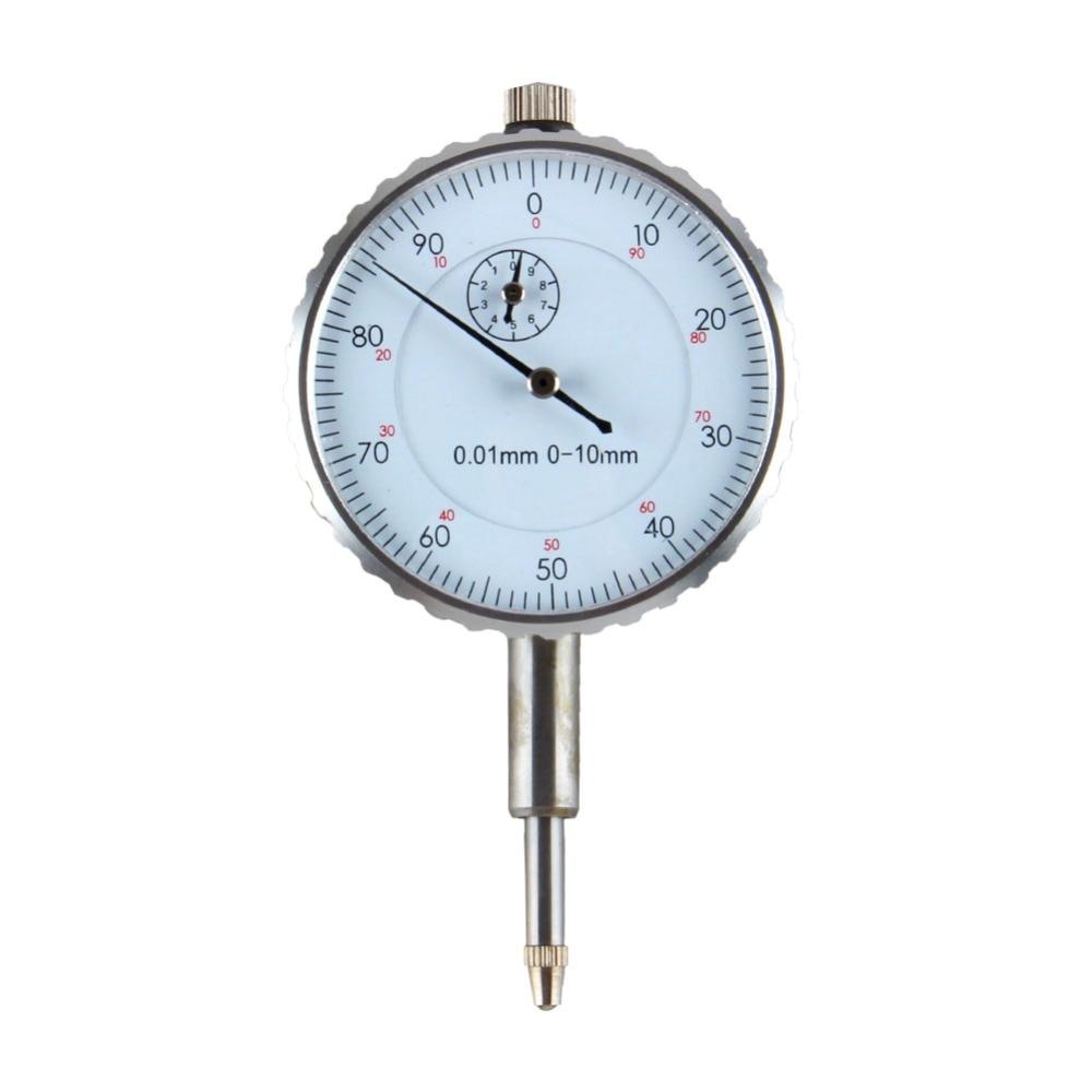 Gut 0,01mm Genauigkeit Zifferblatt Indikatoren Gage Runde Messuhr Genauigkeit Messung Werkzeug 0-10 Mm Äußere Mess Uhr Heißer Verkauf
