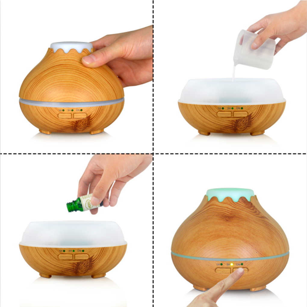 Mini Ultrasonic Fragrance Essential Oil Incense Burner Cool Mist Humidifier Aromatherapy Diffuser Purifier Deodorizing incense