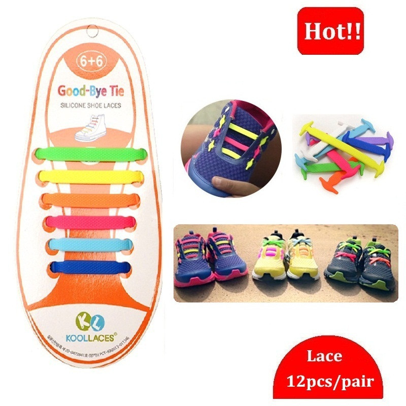 80057a7608cf9 Hot Kids Elastic Shoelaces Multi Colors Children Silicone Shoe laces Boys  Girls Canvas Sneakers Lovely Shoelace 12pc set NEC01 1 en Cordones de los  zapatos ...