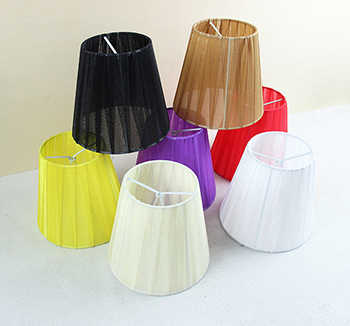 14cm Special offer colorful lace lamp shades chandelier discount, modern fabric lamp covers for wall lampshades, Clip on