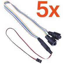 5Pcs LED Headlight Lights Headlamps Angel Eyes Demon Red/Blue for 1/10 Remote Control RC Car Body Shell(China)