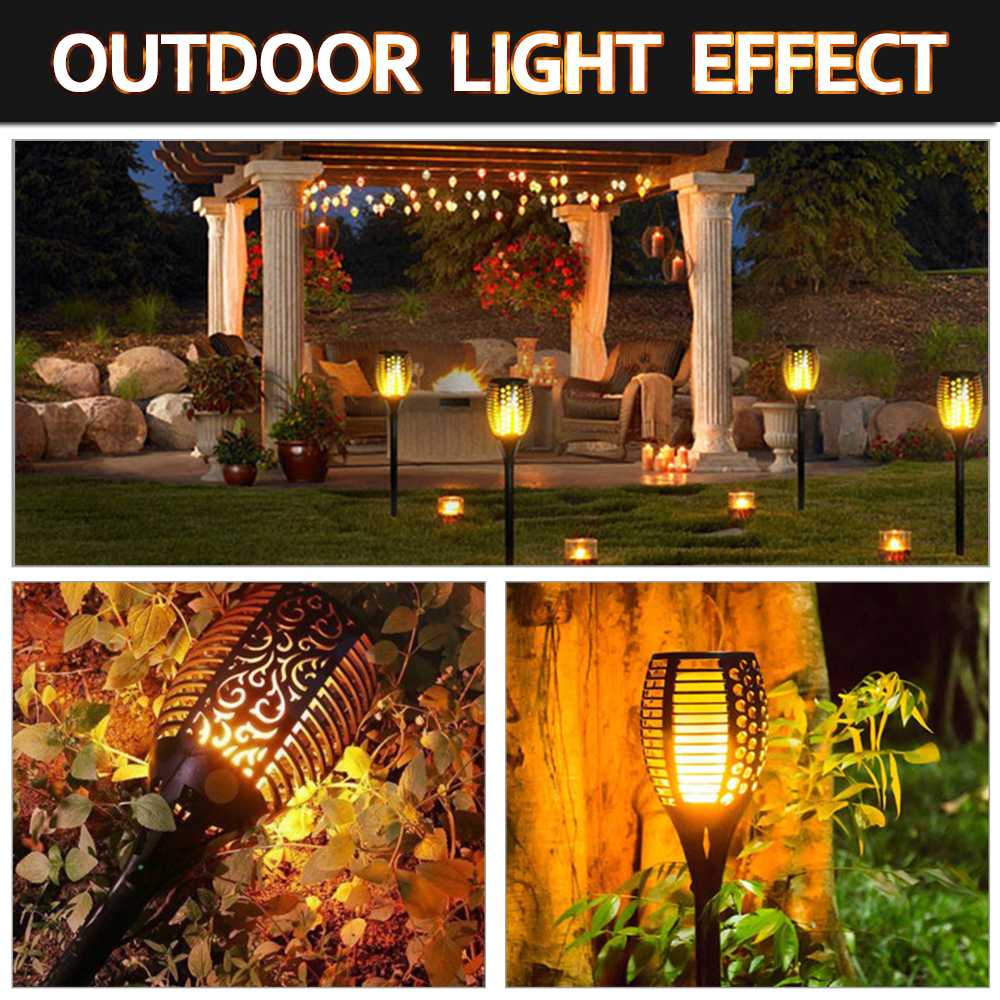 Image 5 - 1/2/4pcs Solar Flame Lamp Flickering Outdoor IP65 Waterproof Landscape Yard Garden Light Path Lighting Torch Light-in Solar Lamps from Lights & Lighting