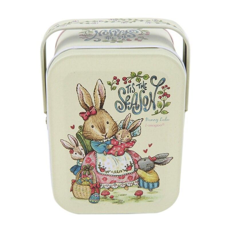 Vivid Peter Rabbit Tote Tin Box Jewelry Box Storage Organizer Case Iron Box Candy Box  11.6*8.1*6.4cm