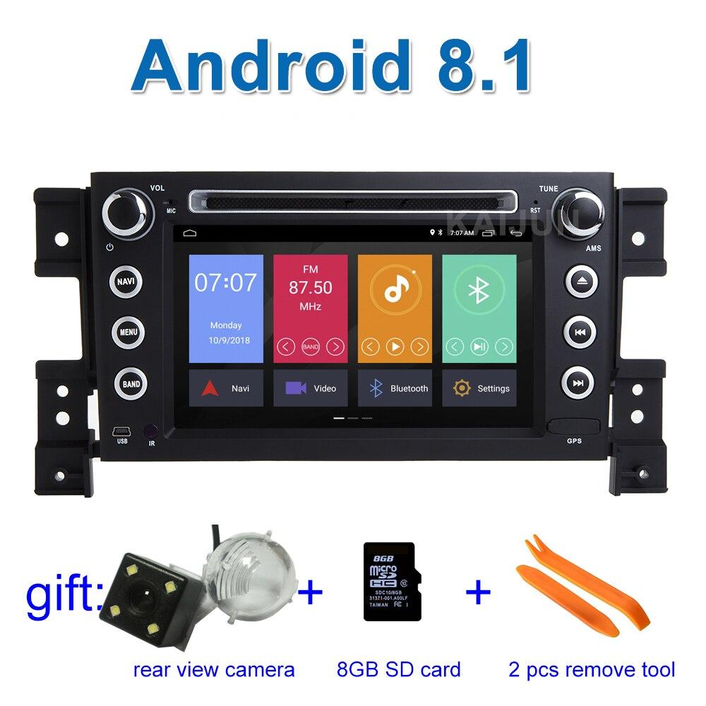 Android 8,1 Автомобильный DVD стерео плеер gps для Suzuki Grand Vitara с Wi-Fi Радио BT
