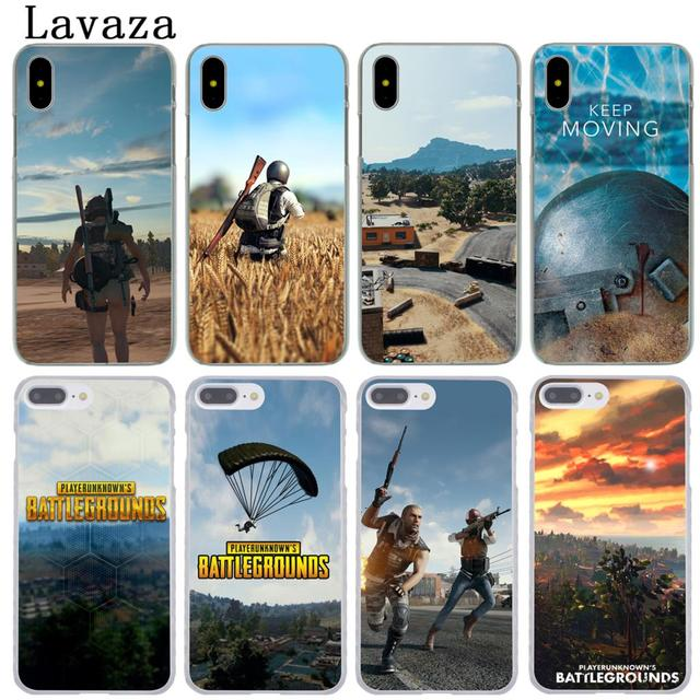 factory price 35ae7 9fca3 US $2.55  Lavaza Playerunknown's Battlegrounds PUBG Hard Phone Cover Case  for Apple iPhone XR XS Max X 8 7 6 6S Plus 5 5S SE 5C 4S 10 Case-in ...